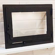 Дверца со стеклом 325*405мм и поддувом Hetta Mia