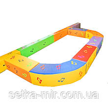 Модульная скамейка Музыка цветная