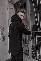 Ветровка мужская демисезонная SoftShell Easy черная SKL59-291135