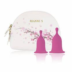 Менструальные чаши RIANNE S Femcare - Cherry Cup две чаши размер S и M 18+