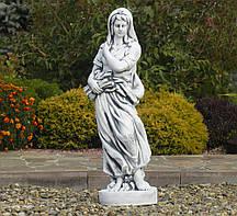 Садовая скульптура Богиня зимы 25x24x83 см Гранд Презент ССП12040 Серый