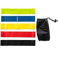 Лента эспандер для фитнеса Mini Loop Bands Набор из 5 резинок + чехол