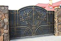 """Кованые ворота под заказ. Ручная ковка. Качественная покраска с гарантией супер эмалью """"Alpina""""."""