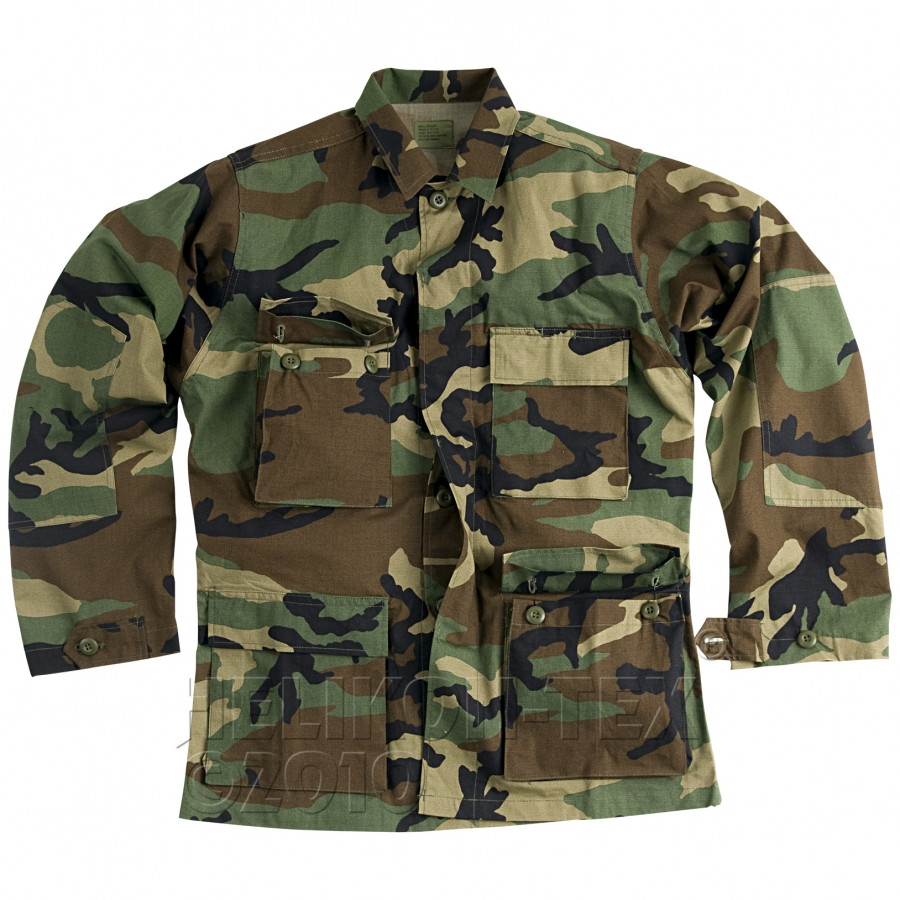 Китель военный Helikon BDU - US Woodland (Cotton Ripstop)