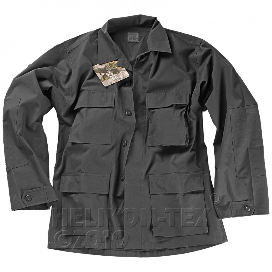 Китель военный Helikon BDU ― Black (Cotton Ripstop)