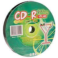 Диски kaktuz cd-r 700mb 52x bulk 10 штук ''lime'' (901o5drkaf002)