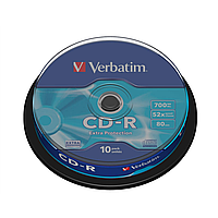 Диски verbatim cd-r 700mb 52x cake 10 extra 43437 (43437)