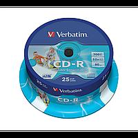 Диски verbatim cd-r 700mb 52x cake 25 print 43439 (43439)