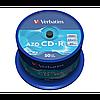 Диски verbatim cd-r 700mb 52x cake 50 cryst 43343 (43343)