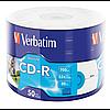Принтовые диски verbatim cd-r 700mb 52x wrap 50 штук printable (43794)