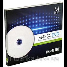 Диски ritek  m-disc dvd 4.7 Гб 4x jewel 1 штука printable (90y31iartk001)