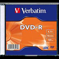 Диски verbatim dvd-r 4,7 Гб 16x slim 1 штук 43547 (43547)