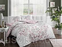 Комплект постельного белья полуторный размер TAC ранфорс Lucy pembe