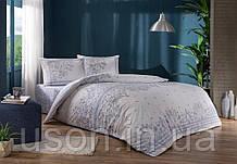 Комплект постельного белья полуторный размер TAC ранфорс Robin lila
