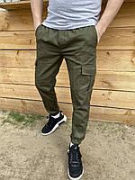 Брюки мужские карго весенне-летние Status хаки Штаны мужские с карманами ТОП качества