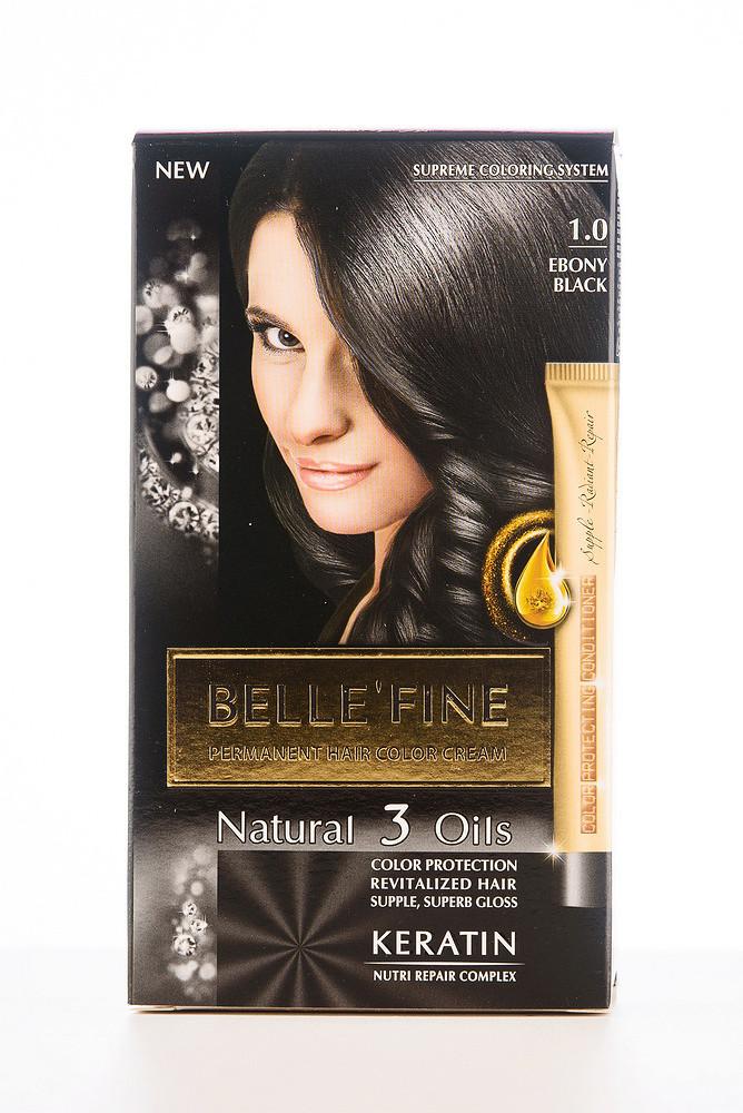 BELLE'FINЕ Фарба для волосся 1.0 Абаносово-чорний