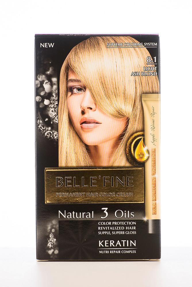 BELLE'FINE Фарба для волосся 8.1 Світло-попелясто-русявий