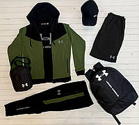Спортивный костюм мужской Under Armour хаки весенний осенний летний Комплект Кофта + Штаны Андер Армор
