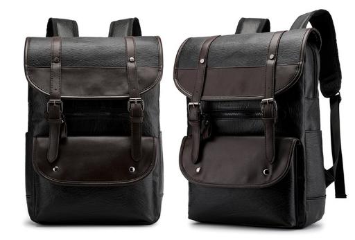 Стильный рюкзак кожзам черный