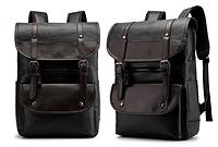 Стильный рюкзак кожзам черный, фото 1