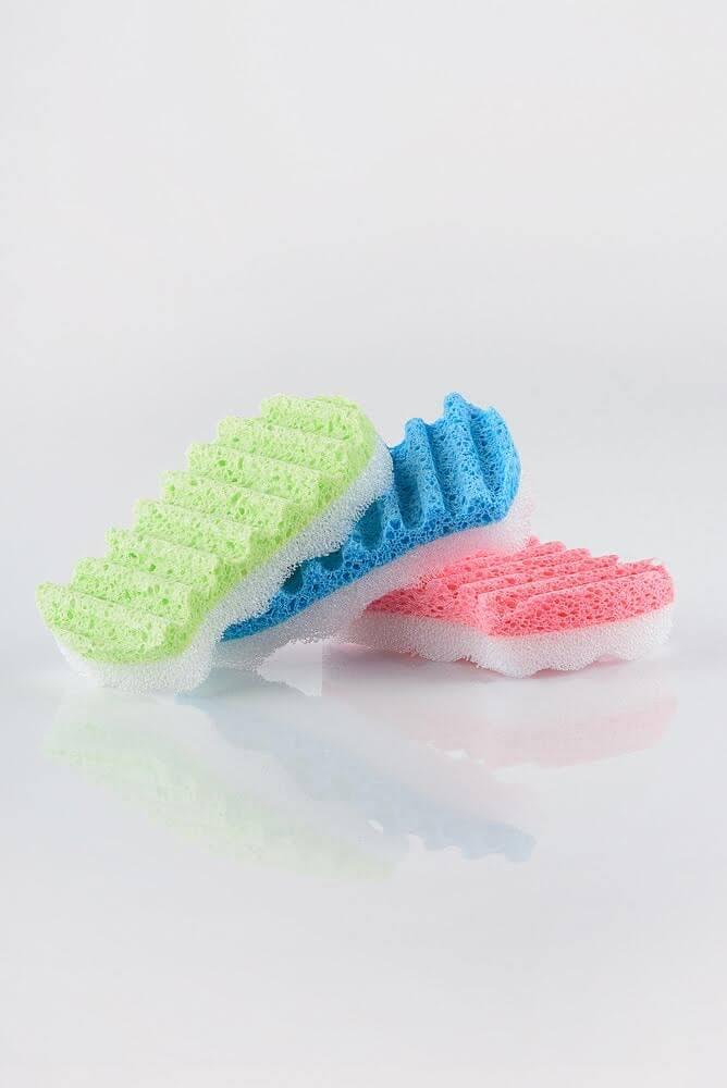 MARTINI SPA Cellulose With Sponge Exfoliating Целюлозна губка для тіла подвійної дії