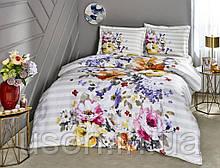 Комплект постельного белья сатин Tac размер евро  Candra Lilac