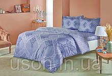 Комплект постельного белья сатин Tac размер евро Corette Grey