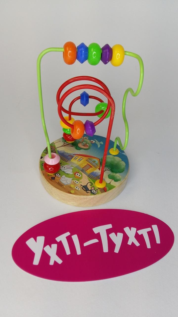 Дерев'яний пальчиковий лабіринт, Лабіринт на дроті, Дерев'яна іграшка 35736