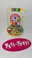 Деревянный пальчиковый лабиринт, Лабиринт на проволоке, Деревянная игрушка 35736