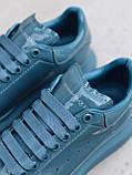 Стильны кроссовки Alexander McQueen (Александр Маквин) Moss Patent ( Premium ), фото 7