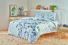 Комплект постельного белья сатин Tac размер евро Emili  Grey