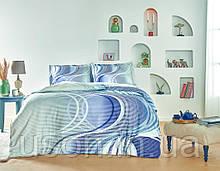 Комплект постельного белья сатин Tac размер евро Marino Blue