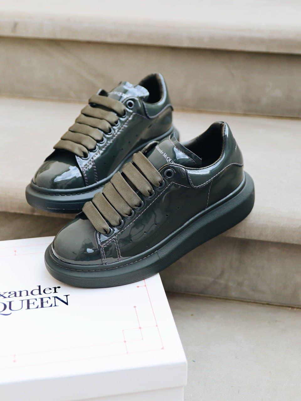 Стильні кросівки Alexander McQueen (Олександр Маквин) Dark Khaki ( Premium )