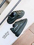 Стильные кроссовки Alexander McQueen (Александр Маквин) Dark Khaki ( Premium ), фото 7
