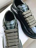 Стильні кросівки Alexander McQueen (Олександр Маквин) Dark Khaki ( Premium ), фото 6