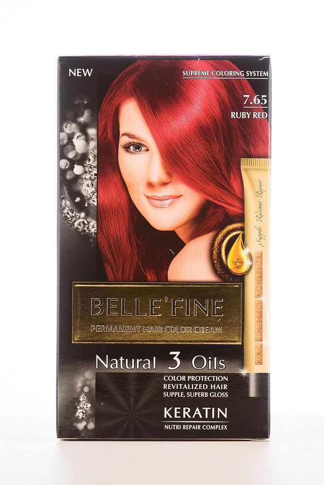 BELLE'FINE Фарба для волосся 7.65 Червоний рубін