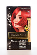 BELLE'FINE Фарба для волосся 7.64 Насичено-яскраво-червоний