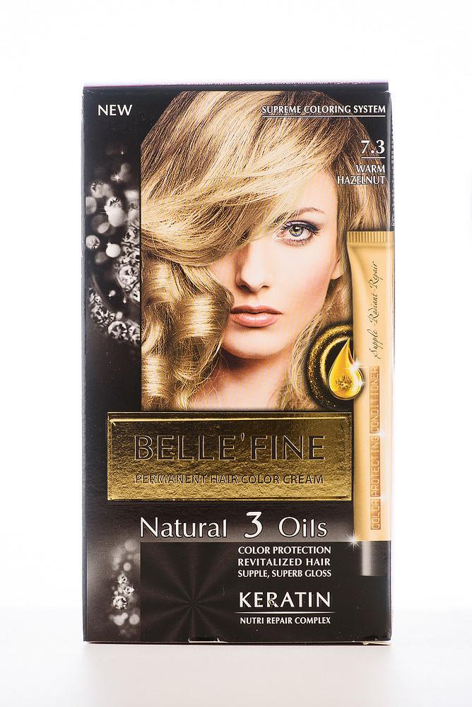 BELLE'FINE Фарба для волосся 7.3 Теплий лісовий горіх