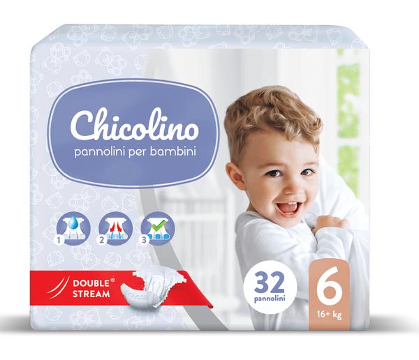 Подгузники Chicolino 6, 16+ кг (32шт.)