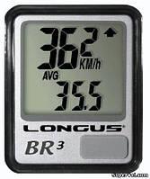 Велокомпьютер Longus BR-3, 10 ф, черно-серебристый