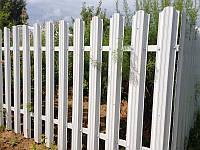 Секция забора из евроштакетника 2,5х1,5 м, цвет белый