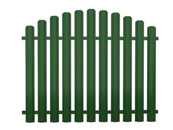 Секція огорожі з євроштахетника розмірами 2х1,2 м, колір зелений