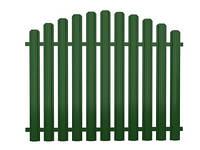 Секція огорожі з євроштахетника розмірами 2х1,2 м, колір зелений, фото 1