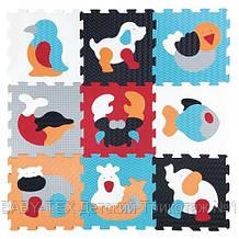 Дитячий розвиваючий ігровий килимок-пазл Baby Great Улюблені тварини, 92х92 см (GB-M2006)