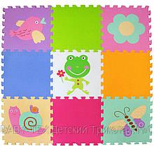 Дитячий розвиваючий ігровий килимок-пазл Baby Great Літній сад, 92х92 см (GB-MF129A)