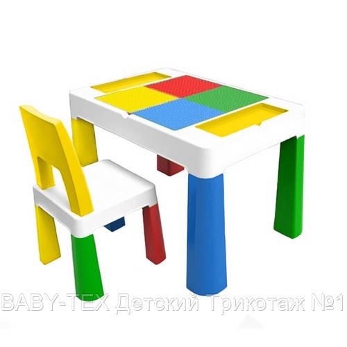 Детский многофункциональный столик POPPET Колор Йеллоу 5 в 1 и стульчик