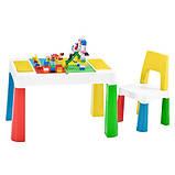 Детский многофункциональный столик POPPET Колор Йеллоу 5 в 1 и стульчик, фото 2