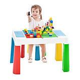 Детский многофункциональный столик POPPET Колор Йеллоу 5 в 1 и стульчик, фото 3