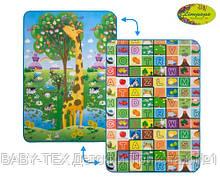 Детский двусторонний коврик Limpopo Большой жираф и Красочная азбука, 120х180 см