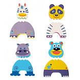 Детские аква-пазлы Baby Great Смешные животные, 4 игрушки, фото 4